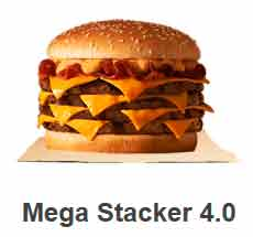 mega stacker do Burger King